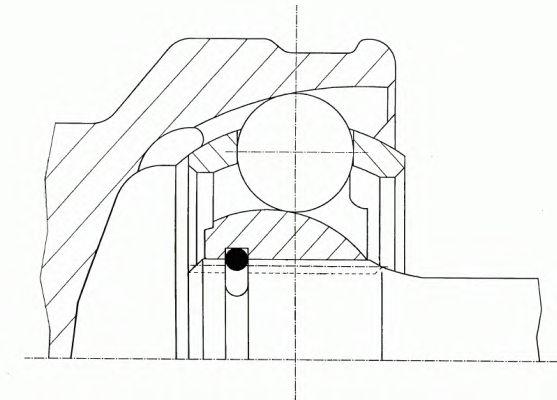 Шарнир приводного вала (ШРУС), к-кт.  арт. 23934