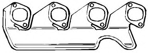 ELRING BMW Прокладка коллектора вып. M10 3серия (E30) -90 ELRING 343847