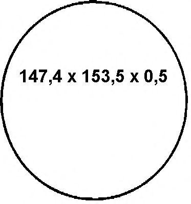 Прокладка картера Ущільнююче кільце Elring 896.455 ELRING арт. 896455