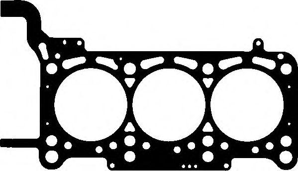 ELRING AUDI Прокладка головки блока (1-3цил. 2мм) Q7/A4/A6 2,7-3,0TDi 04-, VW Touareg 3,0TDI V6 04-. ELRING 018010