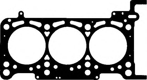 ELRING AUDI Прокладка головки блока (4-6цил. 1,15мм) Q7/A4/A6 2,7-3,0TDi 04-, VW Touareg 3,0TDI V6 04-. ELRING 018060