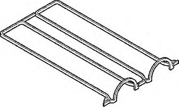 Прокладка крышки клапанной FORD ZETEC 1.25/1.4/1.6 (клап. крышка алюмин.) (пр-во Elring)              арт. 389110