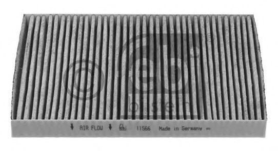 Фильтр салона VW GOLF IV 97-, VW BORA 98- угольный (пр-во FEBI)                                       арт. 11566