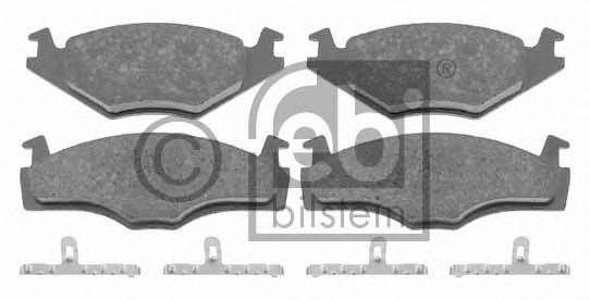 FEBI VW Тормозные колодки дисковые пер.GOLF 83- FEBIBILSTEIN 16005