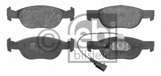 Колодки гальмівні дискові передні, комплект FEBIBILSTEIN 16089