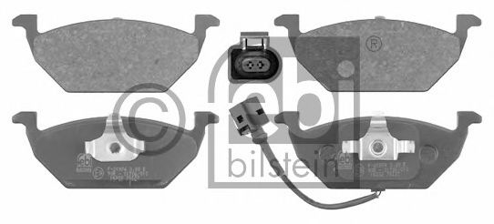 Комплект тормозных колодок, диско JP GROUP арт. 16332