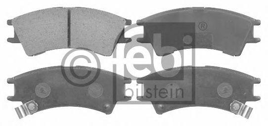 Комплект тормозных колодок, дисковый тормоз  арт. 16541