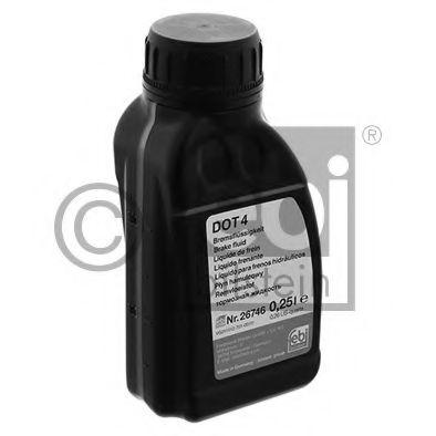 Жидкость торм. FEBI DOT4 (Канистра 0,25л)                                                             арт. 26746