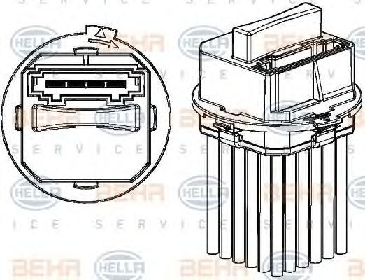 Регулятор вентилятора кондиціонера DB Sprinter 906/Crafter в интернет магазине www.partlider.com
