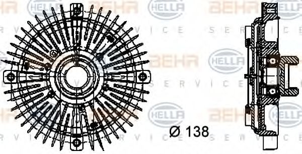 Сцепление, вентилятор радиатора BEHRHELLASERVICE 8MV376732021