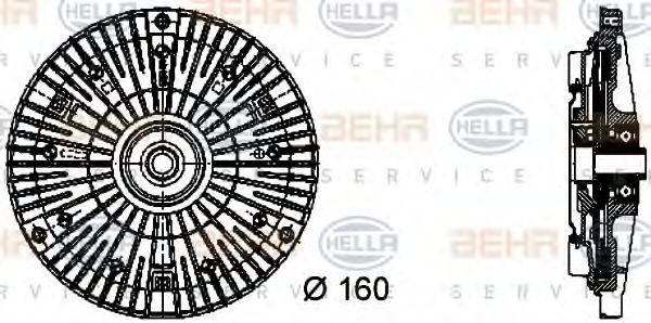 Муфта включ.вентилятора Sprinter 2.9D (3 болта) BEHRHELLASERVICE 8MV376732061