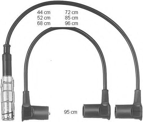Высоковольтные провода (пр-во BERU)                                                                  BERU ZEF558