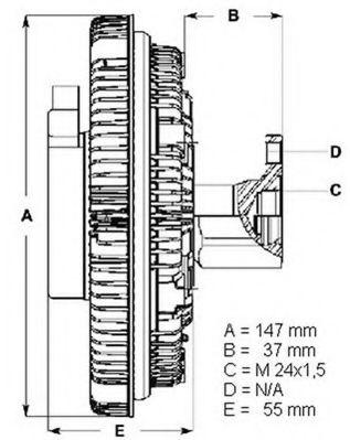 BERU VW Муфта сцепления вентилятора (вискозная) 2.5TDI: Audi A4/A6/A8 97-, Passa BERU LK002