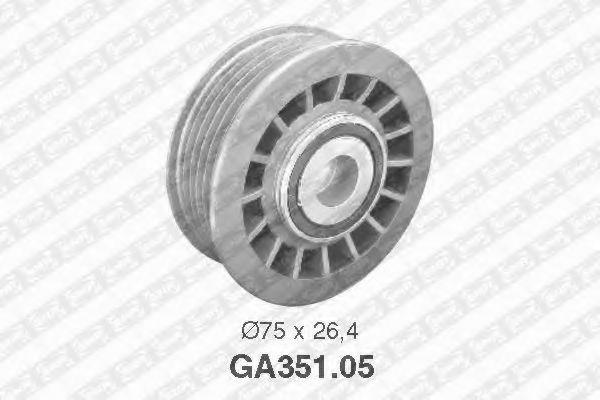 Фото - Паразитный / ведущий ролик, поликлиновой ремень SNR - GA35105
