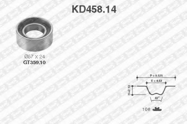 Комплект ГРМ Комплект ремня ГРМ SNR арт. KD45814
