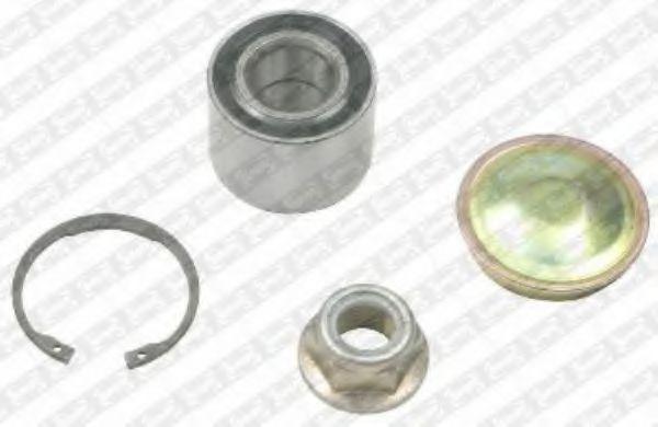 R155.63  NTN-SNR - Комплект підшипника ступиці  арт. R15563