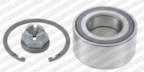 R155.87  NTN-SNR - Комплект підшипника ступиці  арт. R15587