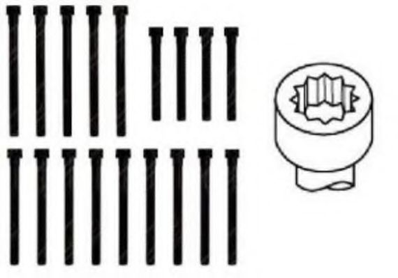 Болт головки блока (компл.) MB 2.0D/2.3D OM601 (пр-во PAYEN)                                         PAYEN арт. HBS058