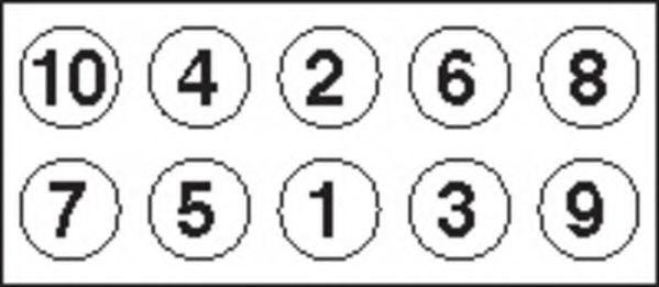 Комплект болтов головки цилидра  арт. HBS378