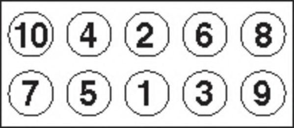 Болт головки блока (компл.) FORD 1.8D/TD 92- (пр-во PAYEN)                                            арт. HBS033