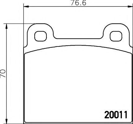 20011/19,0мм Тормозные колодки PAGID PAGID T4116