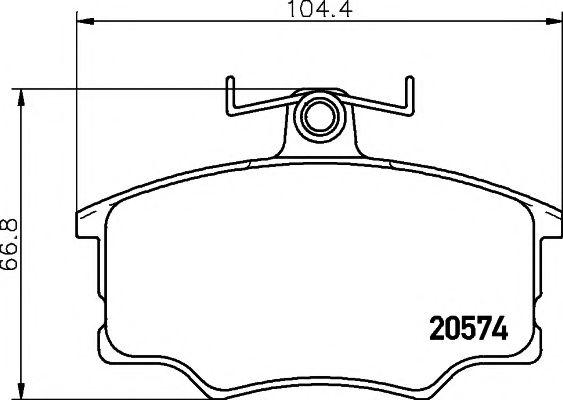 20574/19,6мм Тормозные колодки PAGID PAGID T0291
