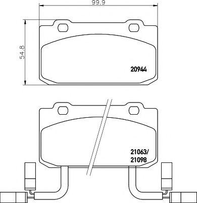 20944/15,0мм Тормозные колодки PAGID PAGID T4164