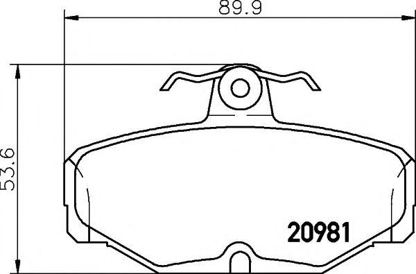 Тормозные колодки PAGID PAGID T5006