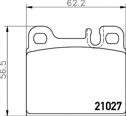 21027/15,5мм Тормозные колодки PAGID PAGID T1118