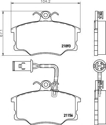 21156/17,4мм Тормозные колодки PAGID PAGID T5034