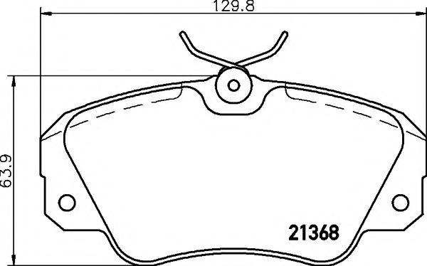 21368/19,15мм Тормозные колодки PAGID PAGID T5030