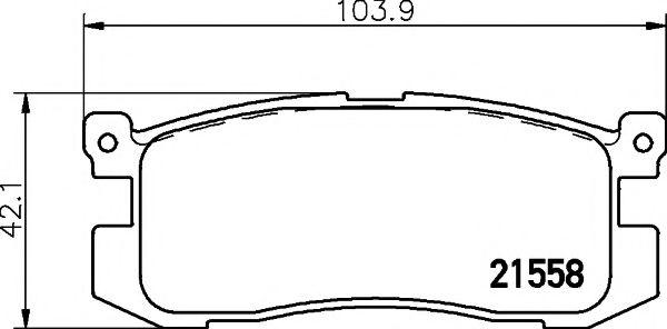 21558/13,0мм Тормозные колодки PAGID PAGID T3006