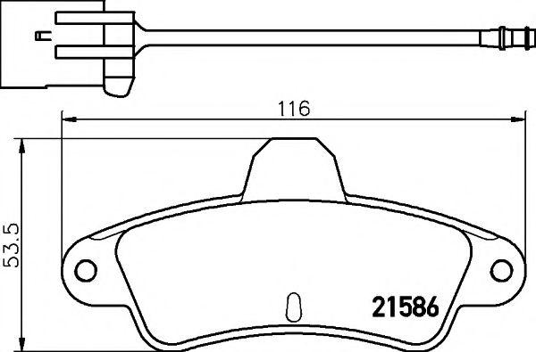 21586/15,0мм Тормозные колодки PAGID PAGID T9026