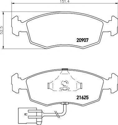 21625/18,0мм Тормозные колодки PAGID PAGID T1080