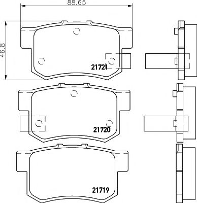 21721/14,5мм Тормозные колодки PAGID  арт. T3017