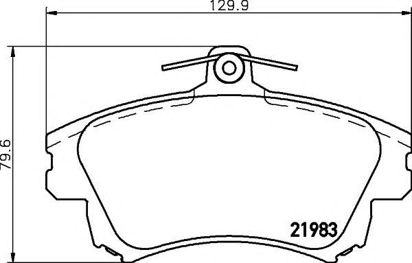 21983/17,3мм Тормозные колодки PAGID PAGID T3095