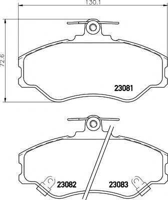 23083/19,0мм Тормозные колодки PAGID PAGID T3036