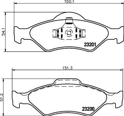 23200/18,8мм Тормозные колодки PAGID  арт. T1192