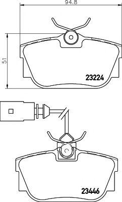 23446/17,3мм Тормозные колодки PAGID PAGID T5137