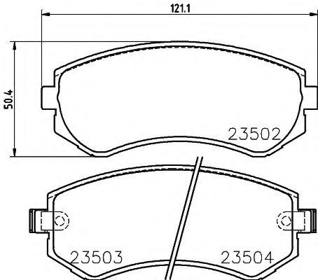 23502/15,5мм Тормозные колодки PAGID PAGID T3115