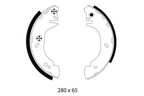 280X64 Тормозные колодки PAGID H8770
