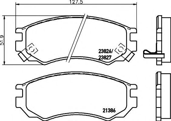 21386/14,5мм Тормозные колодки PAGID PAGID T3097