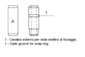 Направляющая клапана DAEWOO Lanos 1,5 8V 7mm(пр-во Metelli)                                           арт. 01S2685