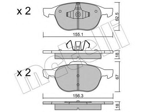 Тормозные колодки  арт. 2205340