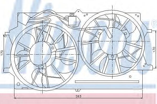 Вентилятор двигателя FORD FOCUS I (CAK) (98-) (пр-во Nissens)                                        NISSENS 85215