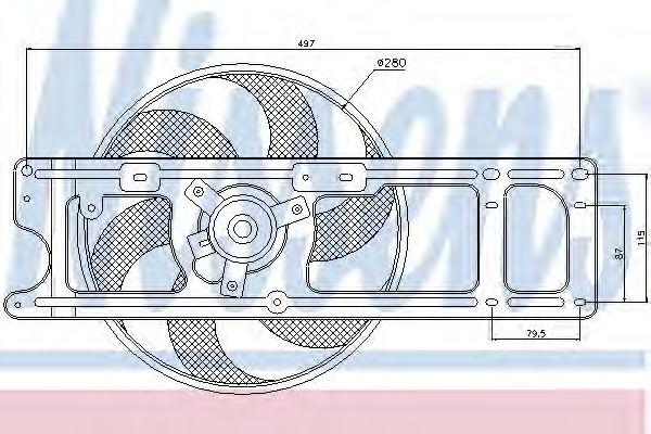 Вентилятор охлаждения NISSAN; RENAULT (пр-во Nissens)                                                NISSENS 85253