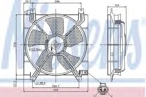 Вентилятор охлаждения CHEVROLET LACETTI (пр-во Nissens)                                              в интернет магазине www.partlider.com