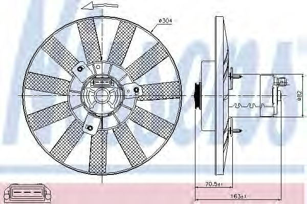 Вентилятор двигателя VOLKSWAGEN GOLF III (1H) (91-) (пр-во Nissens)                                  NISSENS 85539