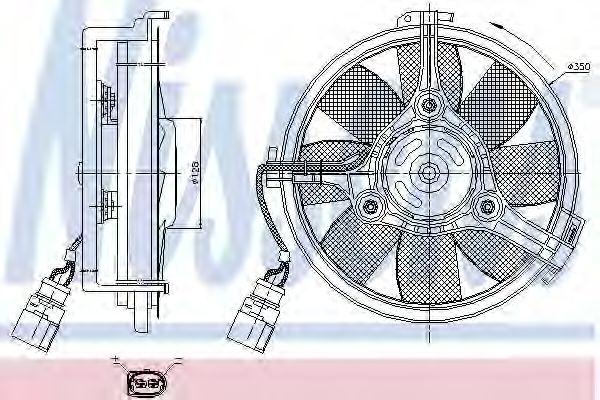 Вентилятор радіатора NISSENS 85547