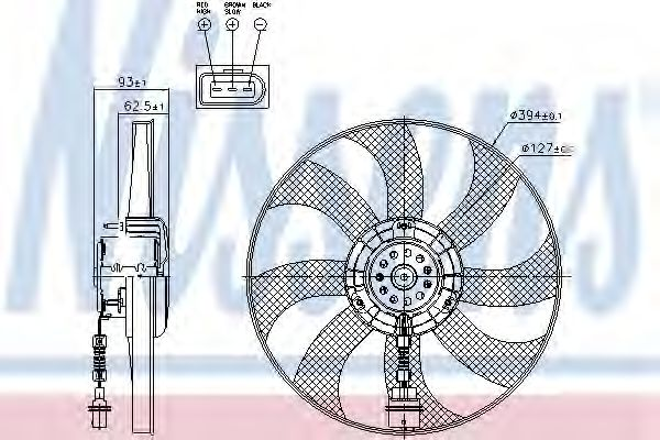 Радіатор охолодження NISSENS 85549